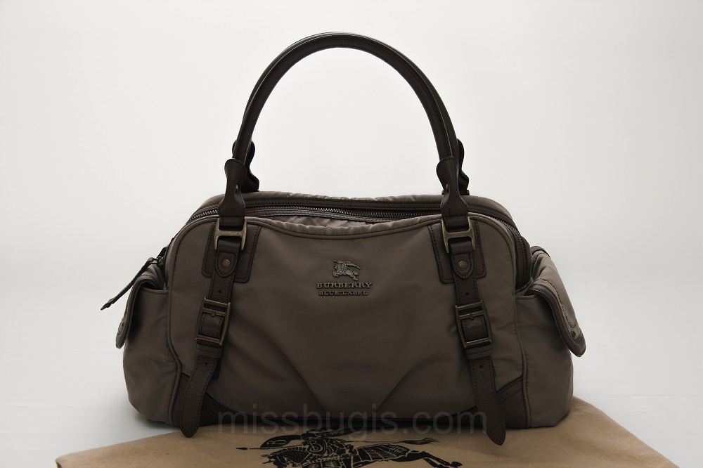 Burberry Blue Label Brown Nylon Bowler