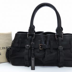 Burberry Black Leather Rowan Satchel