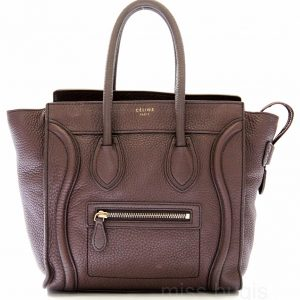 Celine Micro Luggage Pebble Leather Bag