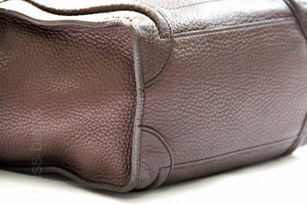 Celine Micro Luggage Pebble Leather Bag