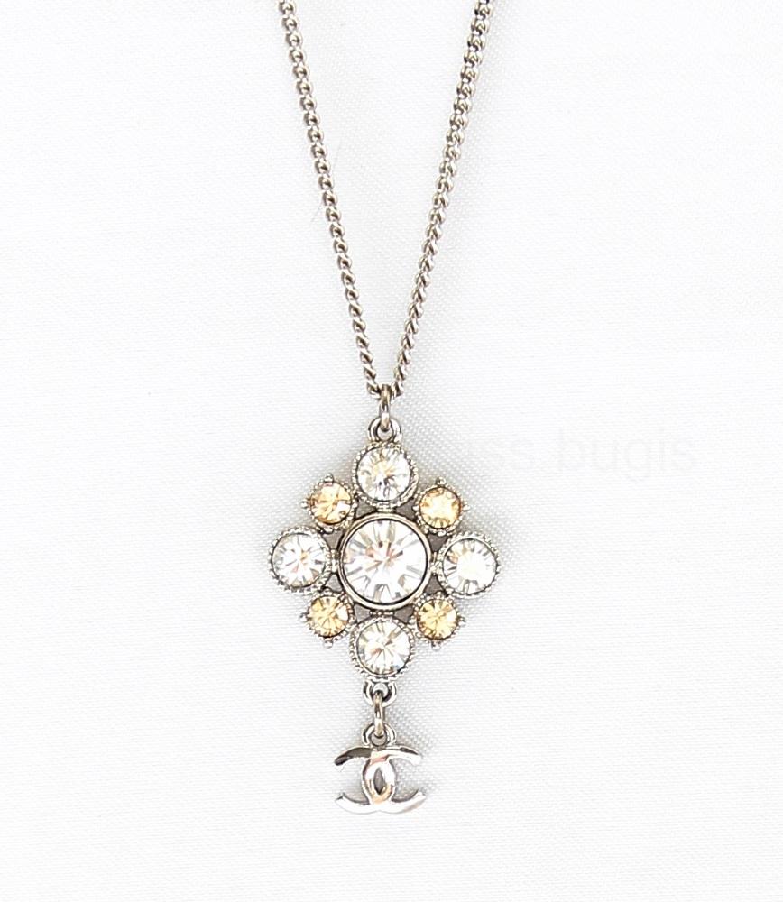 Chanel Crystal CC Adjustable Necklace