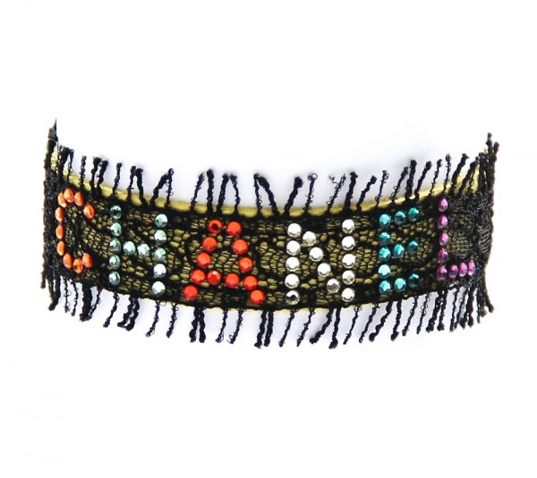 Chanel Rhinestone Lace Bracelet