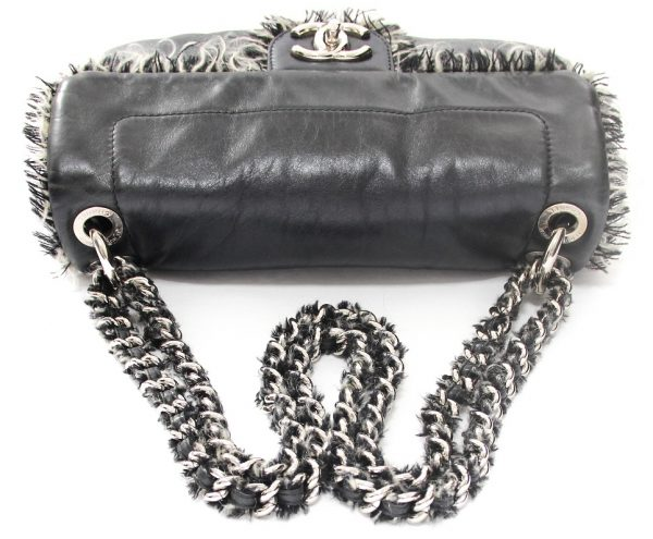 Chanel Funny Tweed Lambskin Leather Flap Bag