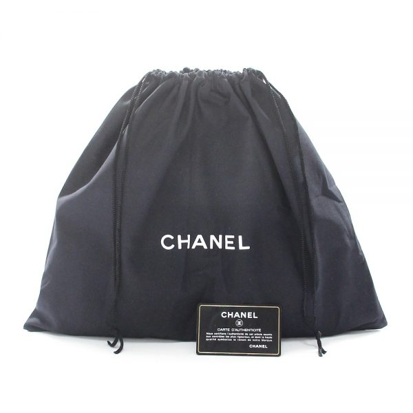 Chanel East West Double Pocket Caviar Leather Bag