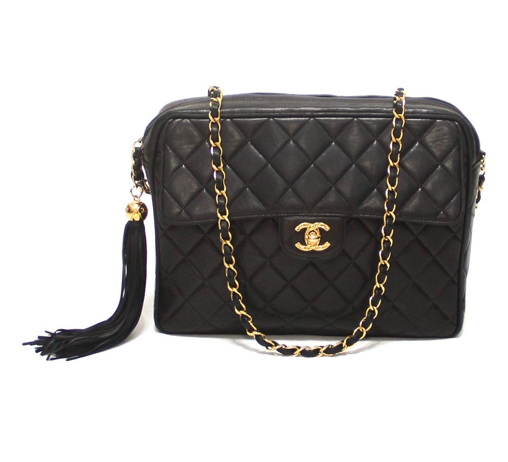 Chanel Quilted Lambskin Leather Camera Bag
