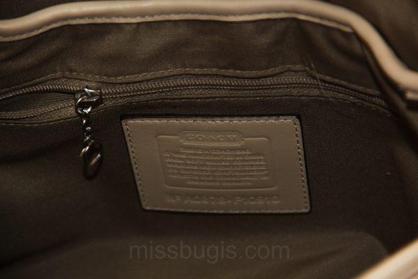 Coach Soft Pebble Leather Shoulder Flap Bag