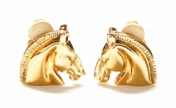 Hermes Cheval Clip Earrings