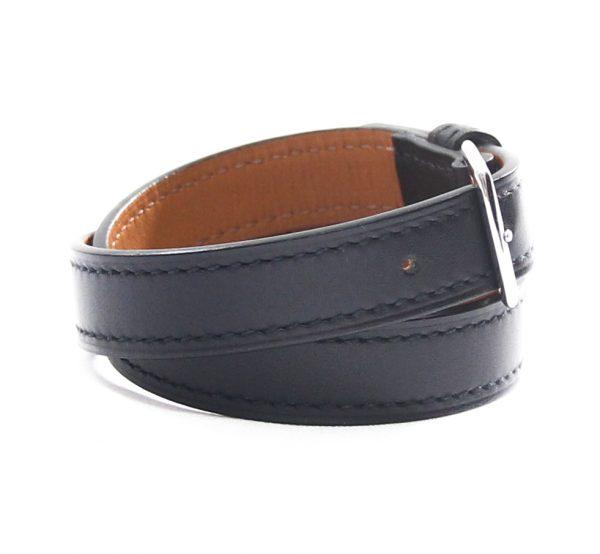 Hermes Etriviere Double Tour Leather Bracelet/Choker