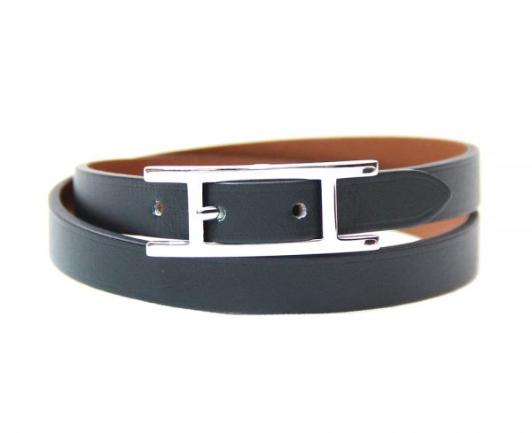 Hermes Behapi Double Tour Leather Bracelet/Choker
