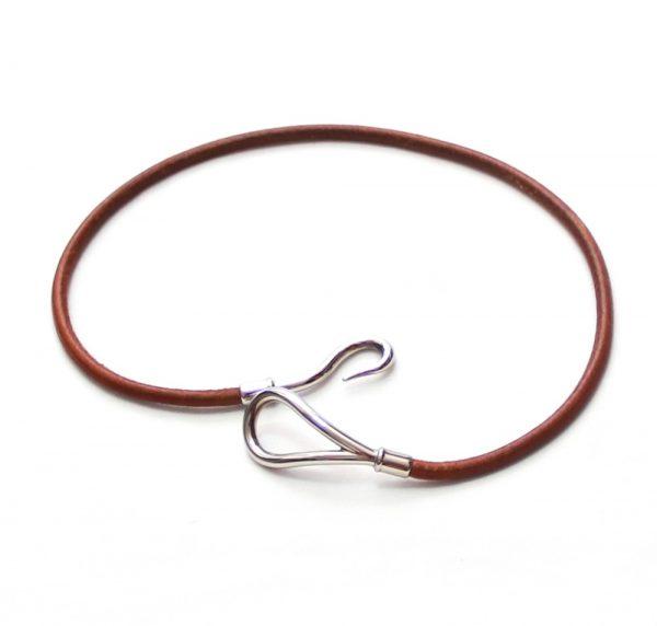Hermes Jumbo Leather Hook Bracelet/Choker