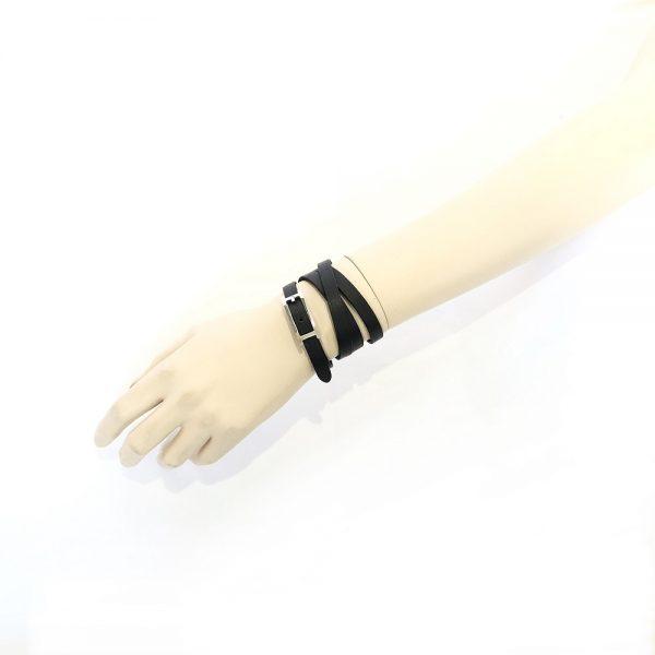 Hermes Api III Tandem Leather Bracelet
