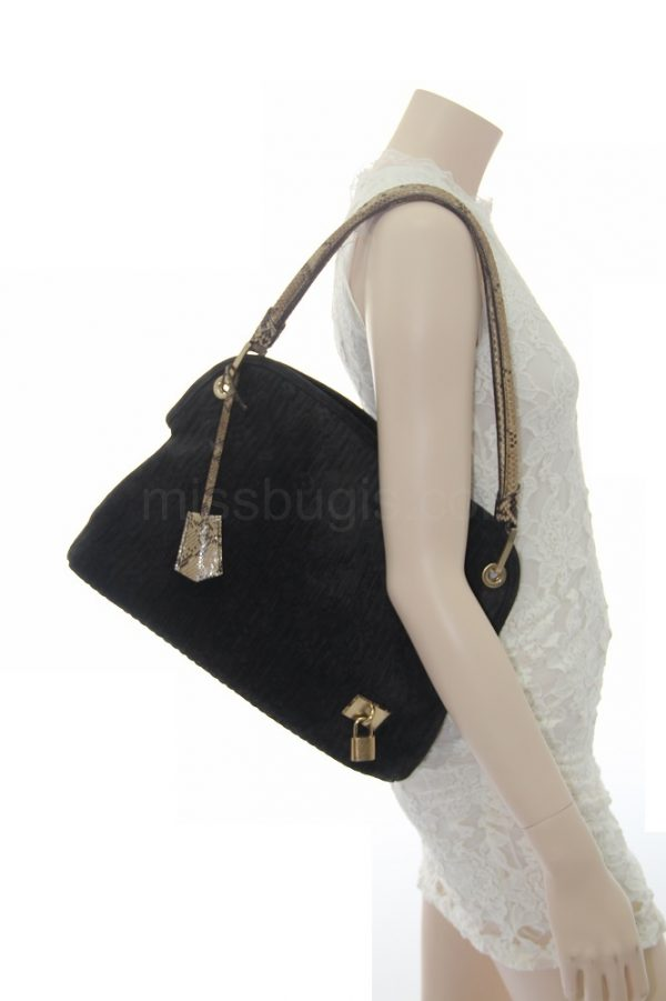 Louis Vuitton Limited Edition Khol Monogram Embossed Suede Wish Bag