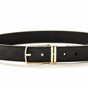 Louis Vuitton Boston Glazed Dark Brown Calf Leather Reversible Belt 90/36