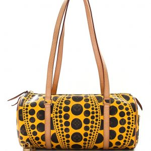Louis Vuitton Limited Edition Monogram Canvas Tayoi Kusama Pumpkin Dots Papillon Bag