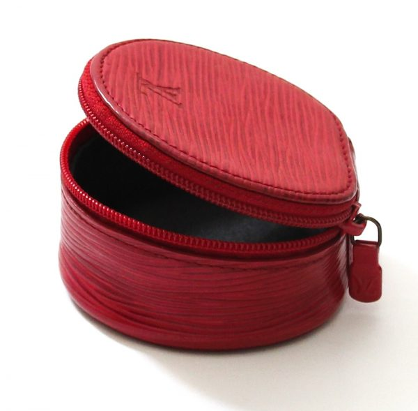Louis Vuitton Epi Leather Red Ecrin Bijoux Jewelry Case