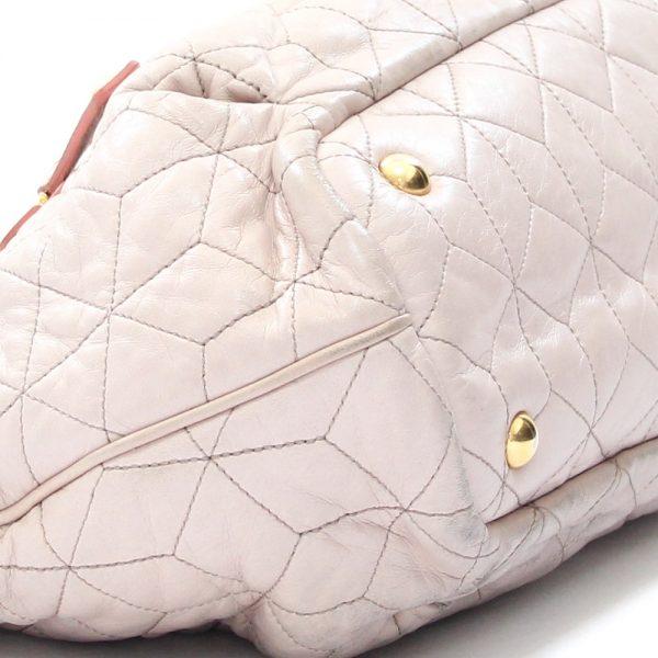 Miu Miu Matelasse Quilted Nappa Leather Tote