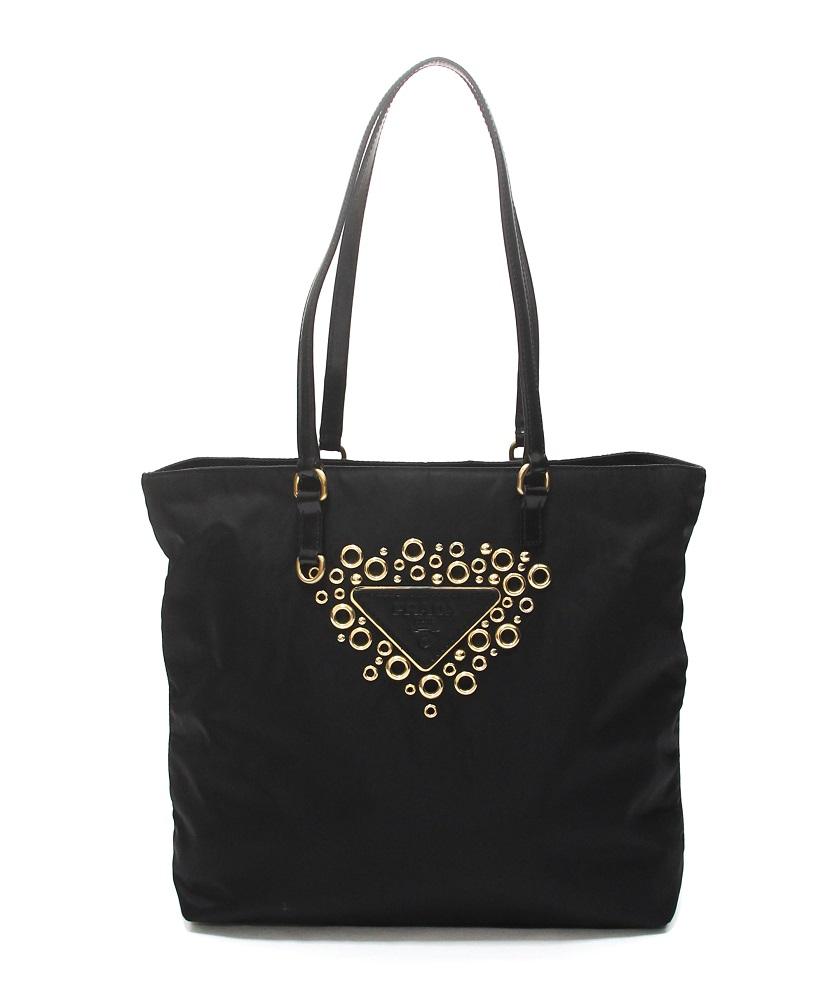 Prada Tessuto Logo Shopping Tote