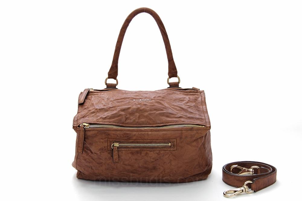 Givenchy Pandora Wrinkled Sheepskin Leather Medium Bag
