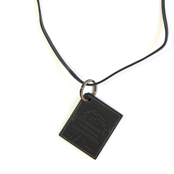 Hermes Countryside Leather Key Chain Necklace