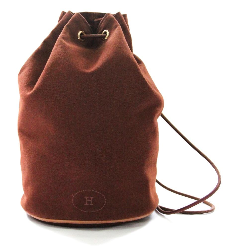 Hermes Canvas Leather Matelot Marcel Backpack