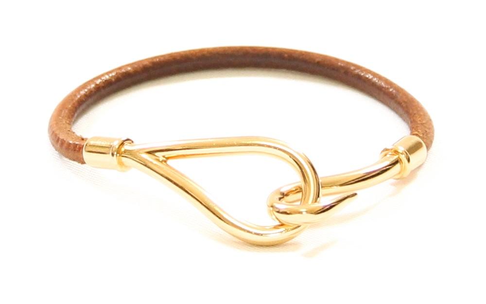 Hermes Jumbo Leather Hook Bracelet