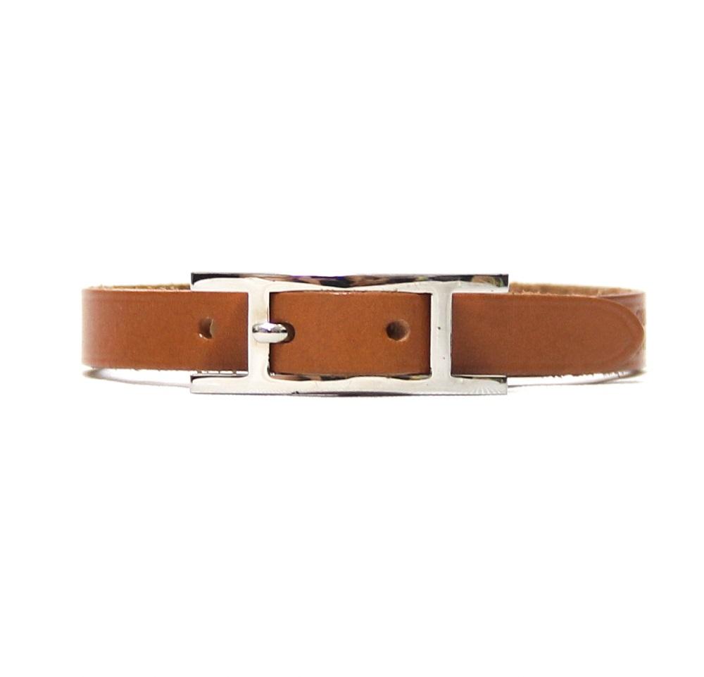 Hermes Behapi Simple Tour Leather Bracelet