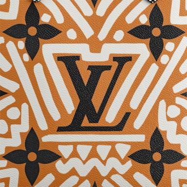 Louis Vuitton Crafty Monogram Canvas Caramel and Cream