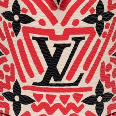 Louis Vuitton Crafty Monogram Canvas Red and Black