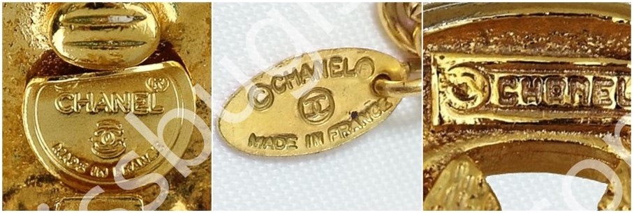 Chanel Costume Jewelry Dating Stamping Mark Guide - Plaque Shape