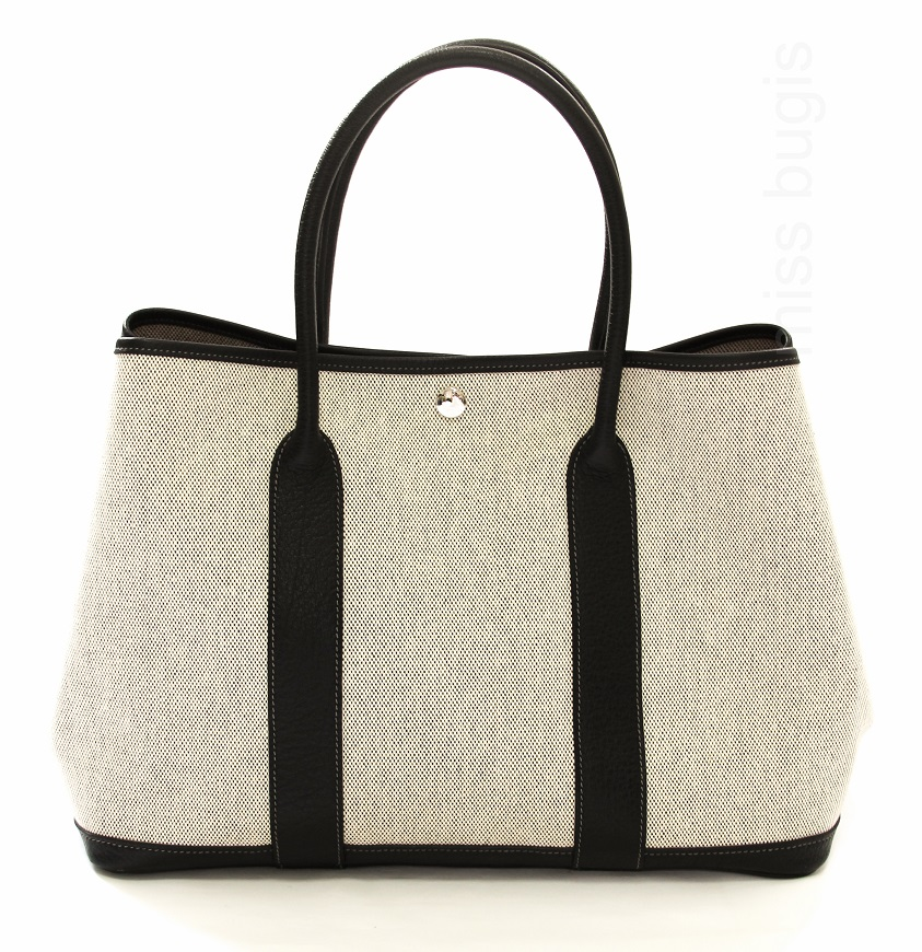 Hermes Toile Leather Garden Party 36 MM Bag