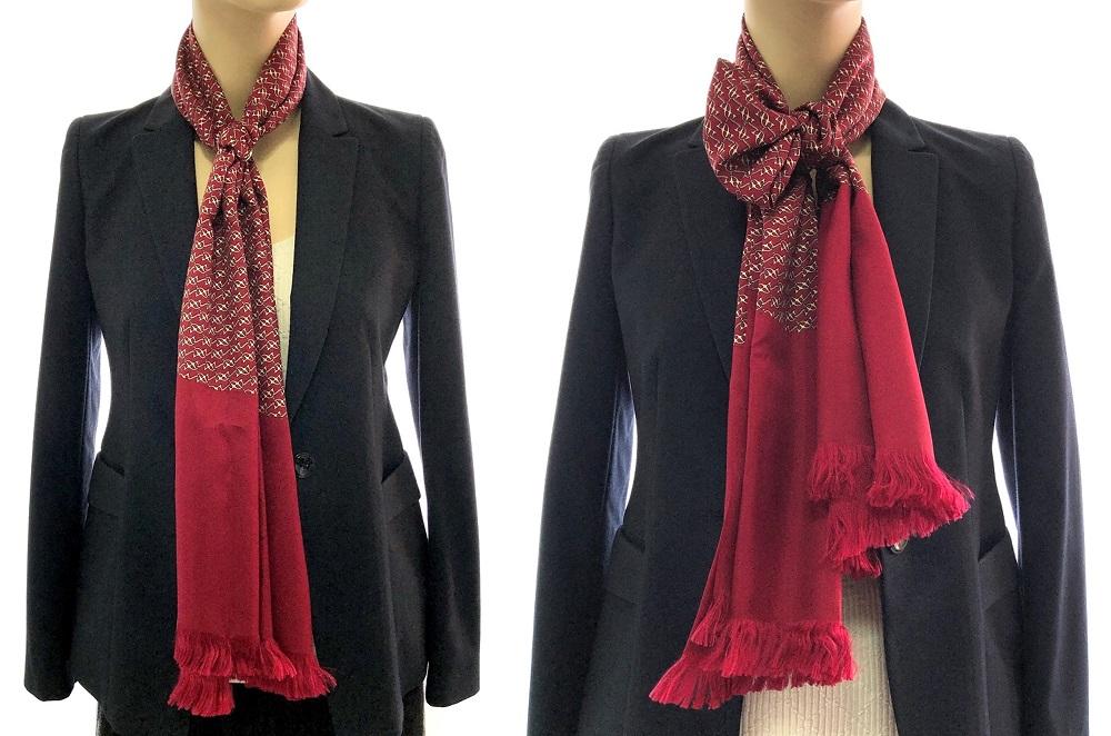 Scarf Tutorial 1: Hermes Silk Scarf with Bulgari Key Chain