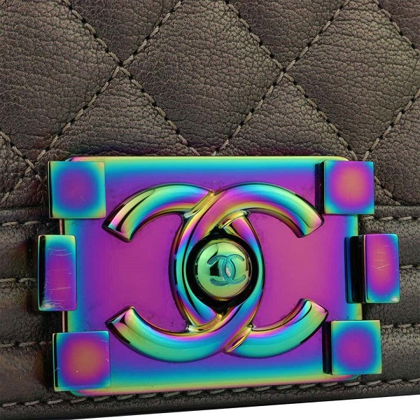 Chanel iridescent metal