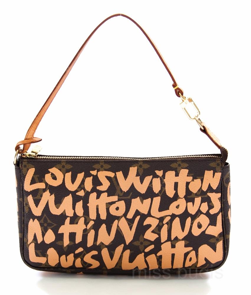 Louis Vuitton Limited Edition Monogram Canvas Stephen Sprouse Graffiti Pochette Accessoires