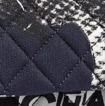Different Types of Chanel Fabric and Non-Leather Material - Chanel printed cotton