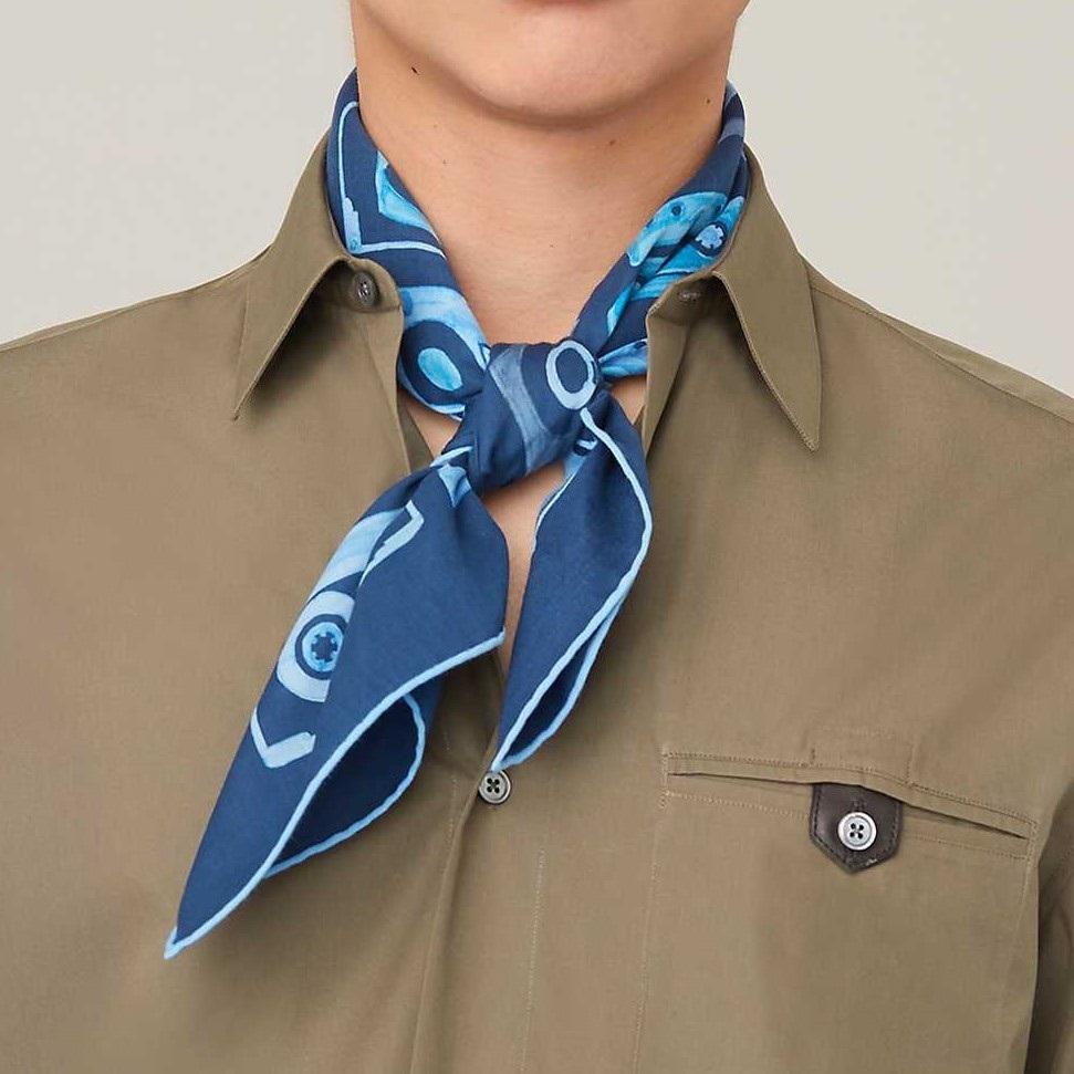 Hermes square scarf 65cm