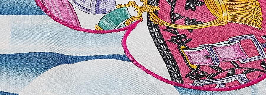 Hermes round scarf 90cm