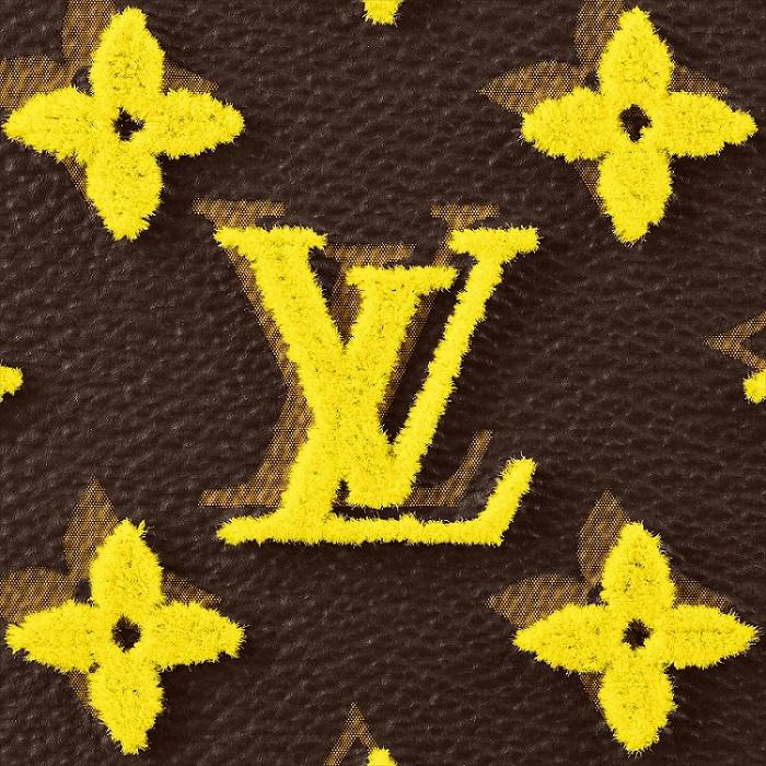 Louis Vuitton Embroidered Monogram Tuffetage Jaune