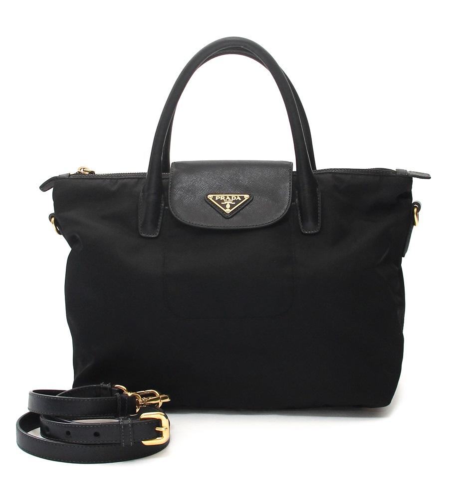 Prada Nylon Saffiano Leather Bag
