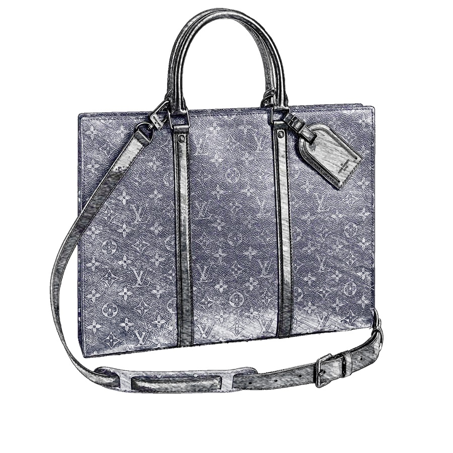 LV Sac Plat Horizontal Zipper