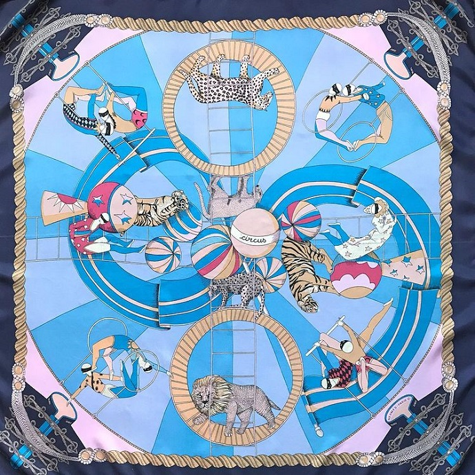 Hermes 90cm Square Scarf Circus