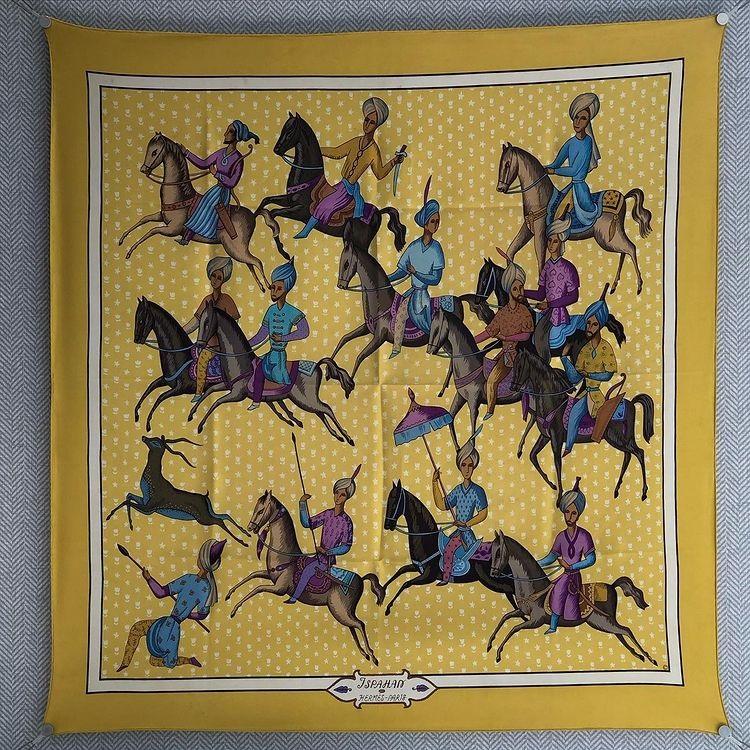 Hermes 90cm Square Scarf Ispahan