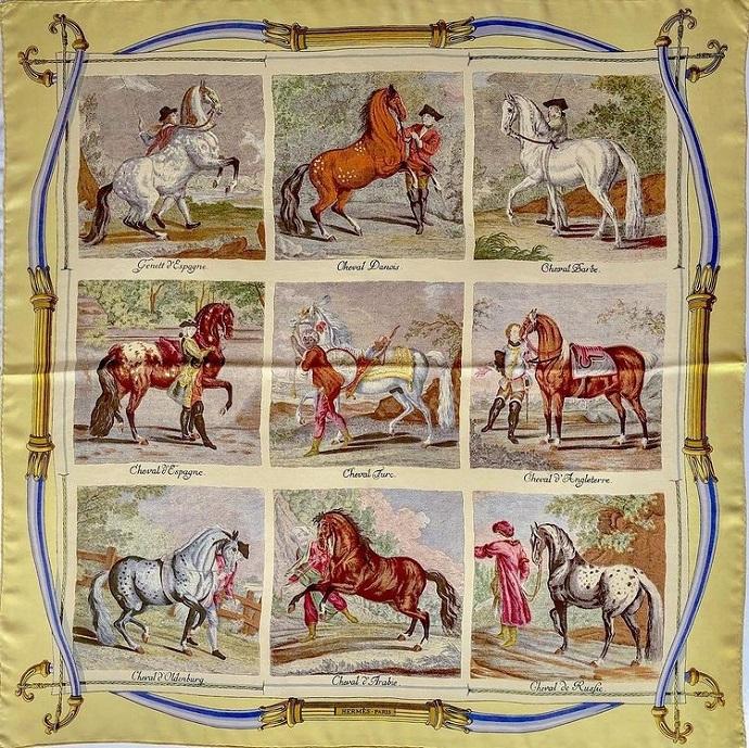 Hermes 90cm Square Scarf Races de Chevaux