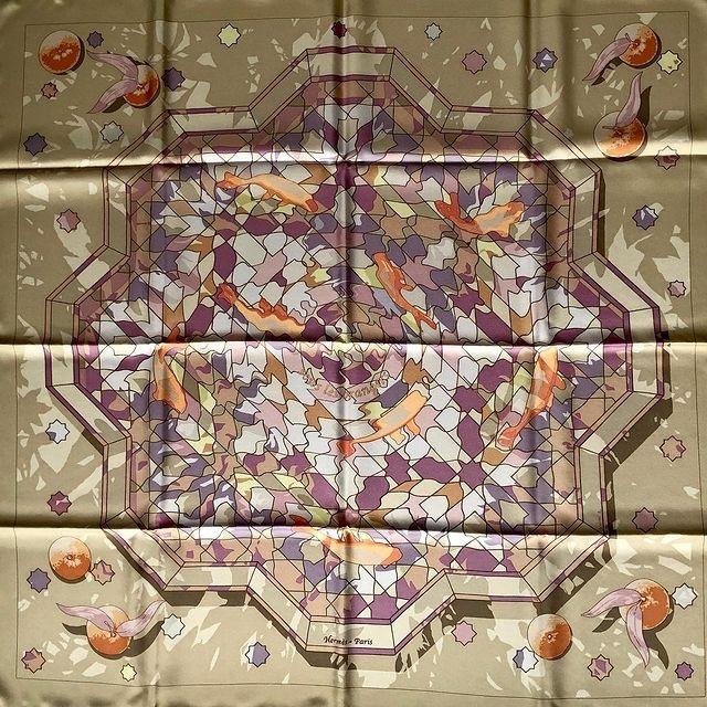Hermes 90cm Square Scarf Sous Les Orangers