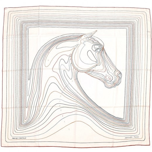Hermes 140cm Square Scarf Pegase Paysage