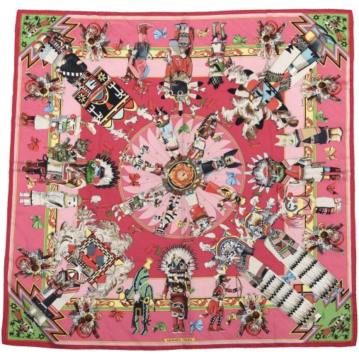 Hermes 90cm Square Scarf Kachinas (Wash)