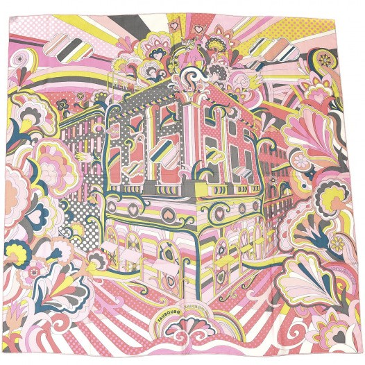 Hermes 140cm Square Scarf Faubourg Rainbow