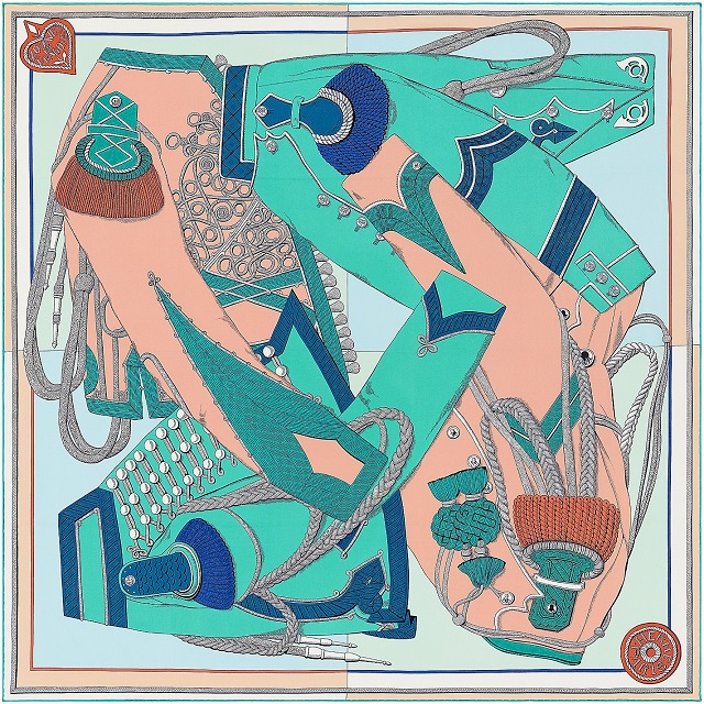 Hermes 90cm Square Scarf Zouaves et Dragons