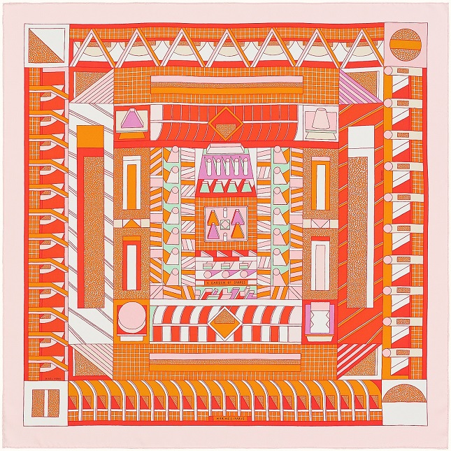 Hermes 90cm Square Scarf A Garden of Shapes
