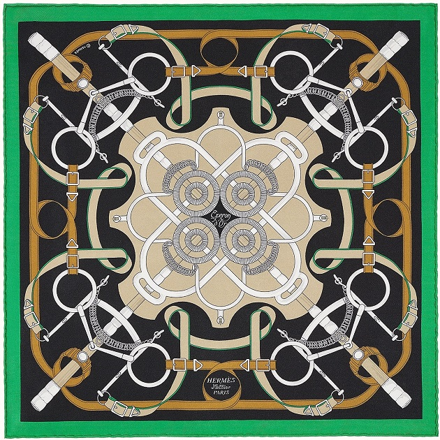 Hermes 45cm Square Scarf Eperon d'Or
